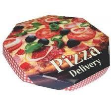 Caixa de pizza oitavada diâmetro 20 cm