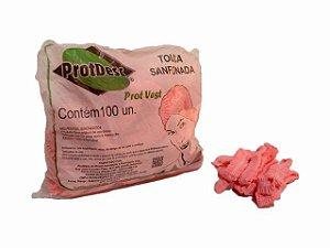 Touca Sanfonada Descartável - 100un - ProtDesc rosa claro