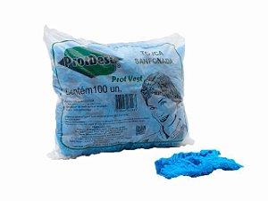 Touca Sanfonada Descartável - 100un - ProtDesc azul