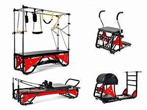 Kit Studio Cross Pilates Completo + Acrílico Vermelho Sólido - Arktus