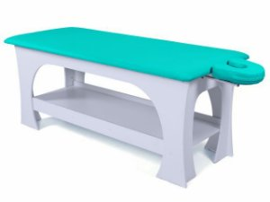 Maca de Massagem Bella - Fixa - 80cm de Largura - Base Branca - Arktus verde