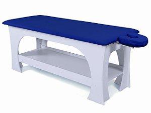 Maca de Massagem Bella - Fixa - 80cm de Largura - Base Branca - Arktus