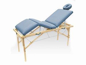 Maca De Massagem Portátil Com Altura Regulável E Orifício Para Fisioterapia E Estética Canopus - Legno azul