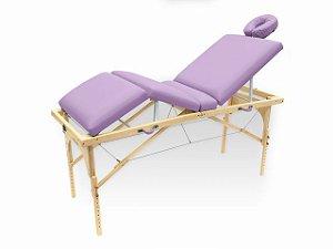 Maca De Massagem Portátil Com Altura Regulável E Orifício Para Fisioterapia E Estética Canopus - Legno lilas