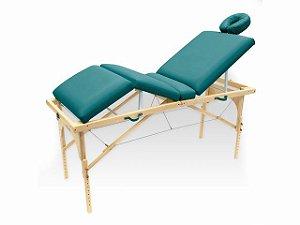 Maca De Massagem Portátil Com Altura Regulável E Orifício Para Fisioterapia E Estética Canopus - Legno verde