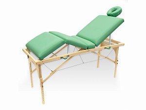 Maca De Massagem Portátil Com Altura Regulável E Orifício Para Fisioterapia E Estética Canopus - Legno verde claro