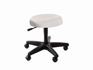 Cadeira Mocho - Sem Encosto - Base Preta - Arktus branco