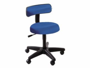 Cadeira Mocho com Encosto - 5010 - Base Preta - Arktus azul claro