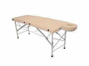 Maca De Massagem Portátil Com Altura Fixa De Alumínio E Orifício Andrômeda - Legno bege