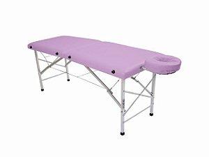 Maca De Massagem Portátil Com Altura Fixa De Alumínio E Orifício Andrômeda - Legno lilas