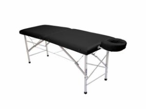 Maca De Massagem Portátil Com Altura Fixa De Alumínio E Orifício Andrômeda - Legno preto