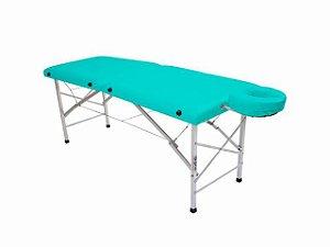 Maca De Massagem Portátil Com Altura Fixa De Alumínio E Orifício Andrômeda - Legno verde claro