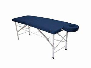 Maca De Massagem Portátil Com Altura Fixa De Alumínio E Orifício Andrômeda - Legno azul marinho