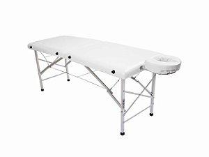 Maca De Massagem Portátil Com Altura Fixa De Alumínio E Orifício Andrômeda - Legno branco fosco