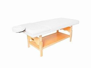 Maca De Massagem Reclinável Com Altura Regulável, Orifício Plêiades - Legno branco brilhante