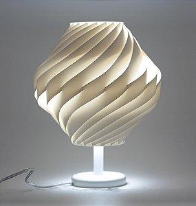 Abajur Twist Com Pedestal  e Base  - 36 cm De Altura