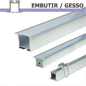Perfil EMBUTIR GESSO para fita LED - 1 m