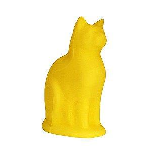 Luminária Gato Sentado - Amarelo