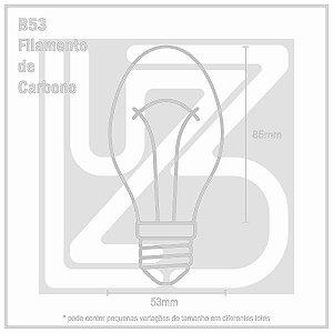 Lâmpada Filamento de Carbono BALÃO - B53 - 127V