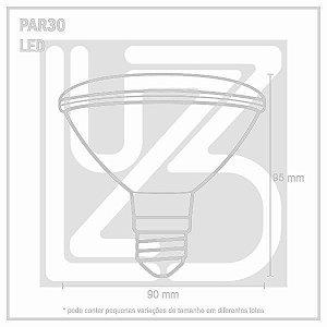 Lâmpada LED PAR 30 E-27 11W 100-240V 2700K