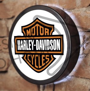 LUMINOSO ESTILO BAR - 24cm - HARLEY LOGO