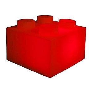 Luminaria Bloco - Vermelho