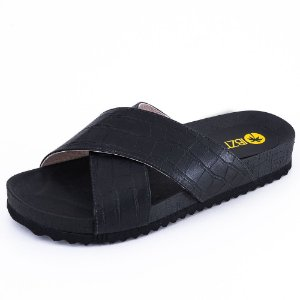 SLIDE SOHO CROCO PRETO
