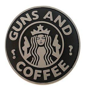 Patch emborrachado GUNS AND COFFEE