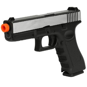 Pistola de Airsoft GBB ARMY ARMAMENT Glock R17Y Slide Dual Tone Silver Cal 6mm