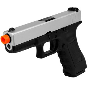 Pistola de Airsoft GBB ARMY ARMAMENT Glock R17 Silver Cal 6mm