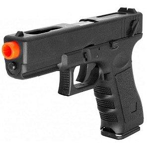 Pistola de Airsoft AEP CYMA CM030 Glock 18C Preta Cal 6mm