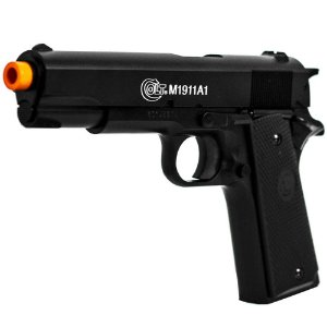 Pistola de Airsoft SPRING CYBERGUN Colt M1911 Preto Cal 6mm