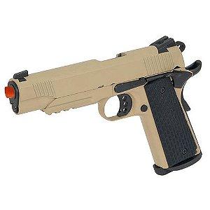 Pistola de Airsoft GBB ARMY ARMAMENT R28B 1911 Tan + Magazine Extra Cal 6mm