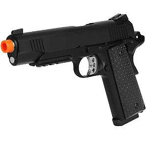 Pistola de Airsoft GBB ARMY ARMAMENT R28 1911 Preto Cal 6mm