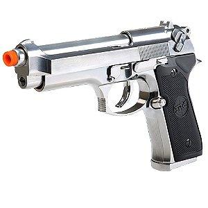 Pistola de Airsoft GBB SRC M92 GB-0709 Cromada Cal 6mm