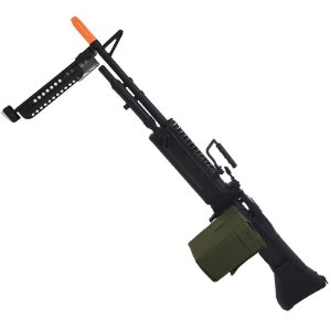 Rifle de Airsoft Eletrico AEG A&K M60 Longa Black Cal 6mm