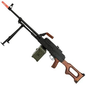 Rifle de Airsoft Eletrico AEG A&K PKM Wooden Madeira Cal 6mm