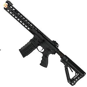 Rifle de Airsoft AEG G&G CM16 Predator Fibra de Nylon Preta Cal .6mm