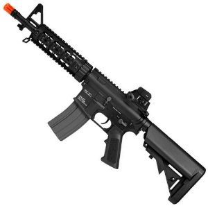 Rifle de Airsoft AEG KWA KM4 SR7 CQB Preto Cal 6mm
