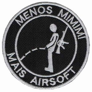 Patch Bordado TALYSMA BORDADOS Menos Mimimi mais Airsoft FL01