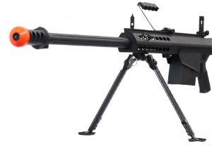 Sniper de Airsoft AEG Snow Wolf Barret Preta Cal 6mm