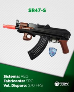 Rifle de Airsoft AEG - Ak 47 SR47-S - SRC - cal.6mm