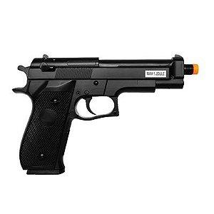 Pistola de Airsoft Spring - Saigo - 92 Slide Metal - Cal 6mm