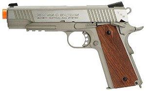 Pistola de airgun SWISS ARMS 1911 Aço Escovado Cal 4,5mm