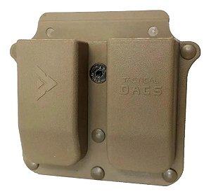 Porta Magazine duplo DACS Tan para pistolas
