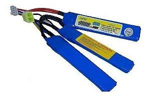 Bateria de Airsoft Feasso FFB 022 LiPO 11.1V 15C 1300 Mah Nunchuk curta