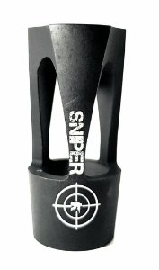 Flash Hider para Rifle SNIPER 60mm Vazado Preto Fosco