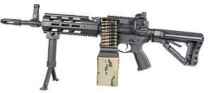 Rifle de Airsoft AEG G&G CM16 LMG Cal .6mm