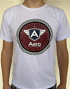 Camiseta manga curta BRANCA LOGO AERO