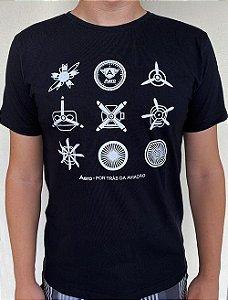 Camiseta manga curta com estampa MOTORES Preta